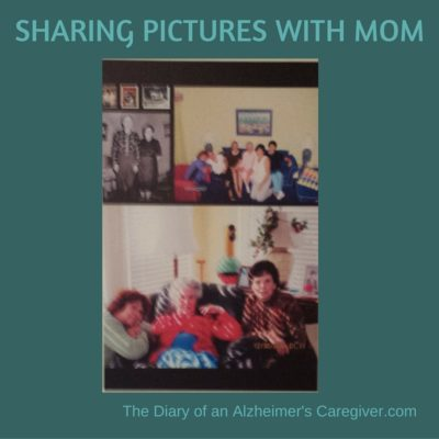 SHARING PICTURES WITH MOM