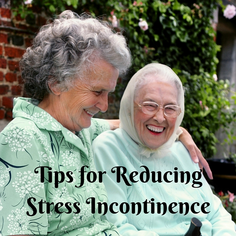 Tips for Reducing Stress Incontinence Two Senior Ladies laughing together